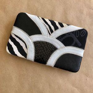 Bebe Patchwork Wallet Clutch